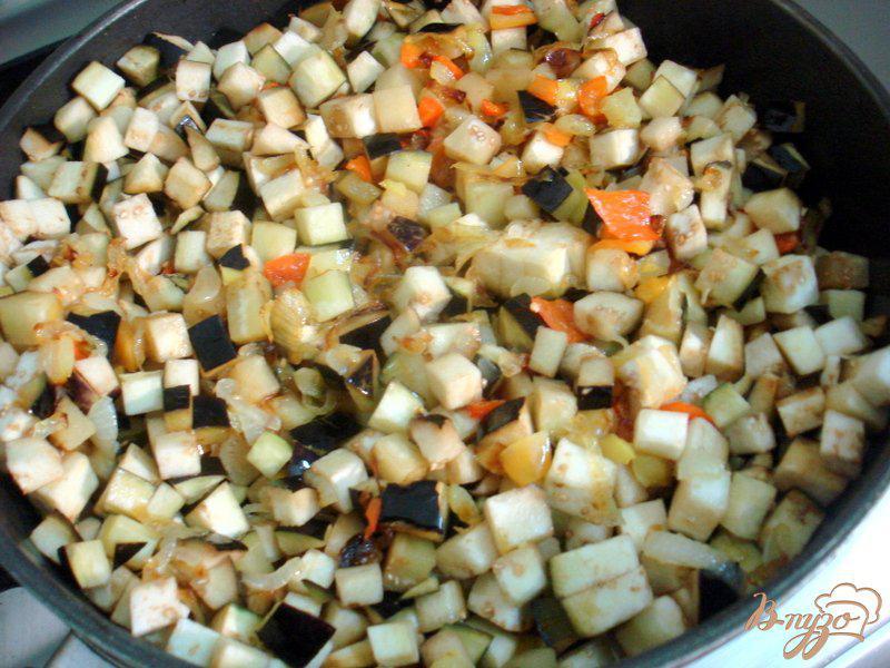Фото приготовление рецепта: Восточная баклажанная икра шаг №8