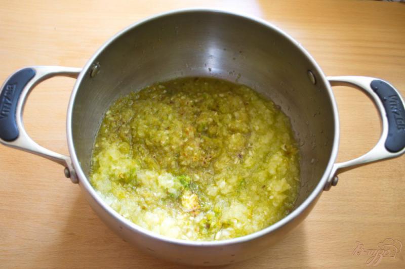 Фото приготовление рецепта: Аджика из кабачка с добавлением яблок шаг №2