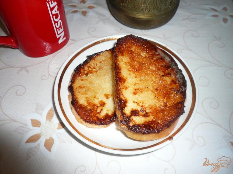 Фото приготовление рецепта: Гренки с мёдом шаг №9