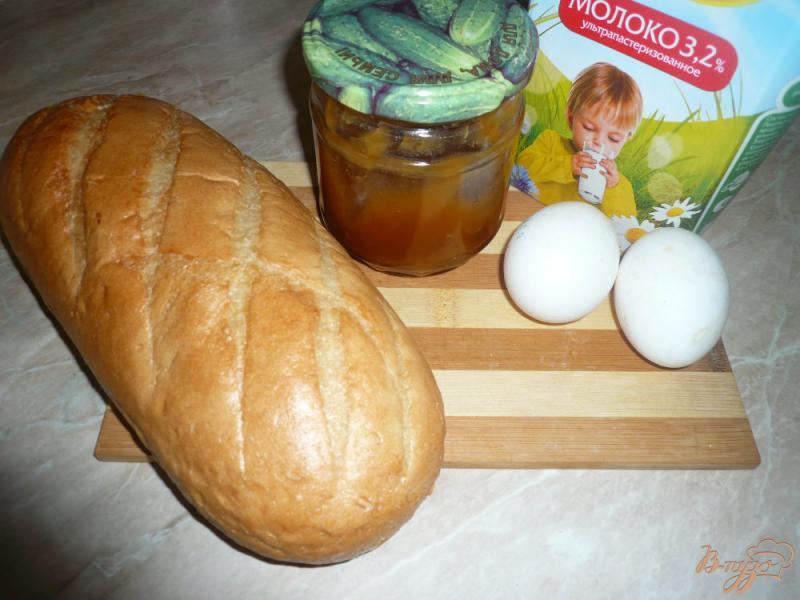 Фото приготовление рецепта: Гренки с мёдом шаг №1