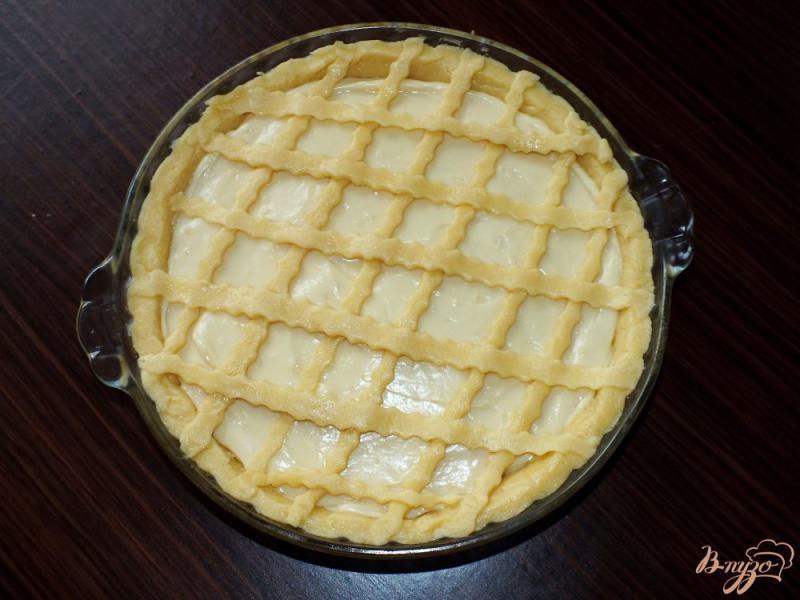 Фото приготовление рецепта: Кростата с кремом из рикотты шаг №11