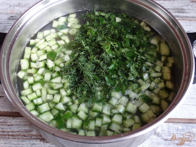Фото приготовление рецепта: Окрошка Оригинальная на картофельном отваре шаг №6