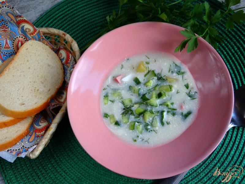 Фото приготовление рецепта: Окрошка Оригинальная на картофельном отваре шаг №8