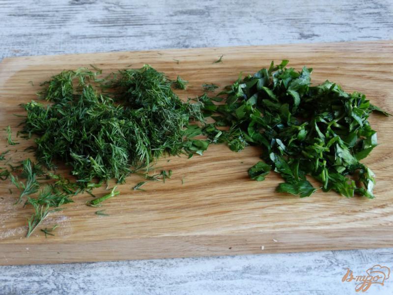 Фото приготовление рецепта: Окрошка Оригинальная на картофельном отваре шаг №5