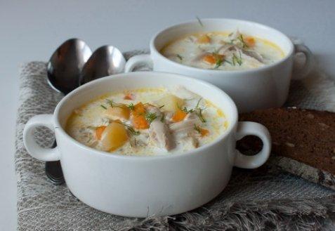 Курячий суп з вершками. Як приготувати з фото