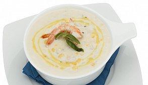 фото рецепта: Суп с креветками и сыром