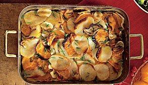 Запечена картопля з коренеплодами. Як приготувати з фото