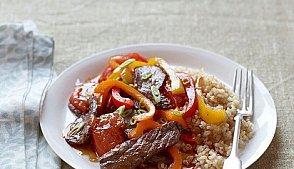 Жареное мясо с перцем
