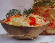 фото рецепта: Капуста, квашенная с овощами