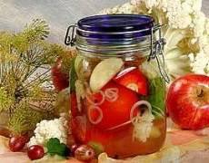 фото рецепта: Ассорти в яблочном уксусе