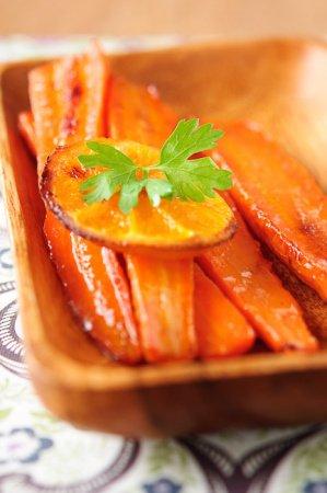 фото рецепта: Морковь, запеченная c цитрусовыми