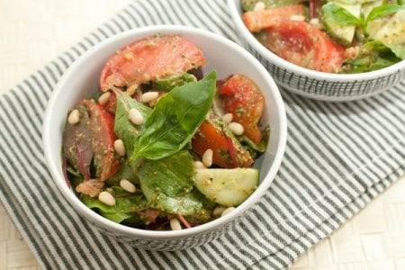 Рецепт Овощной салат с песто