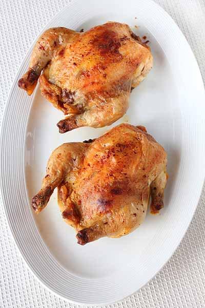Рецепт Цыплята, фаршированные рисом, грибами и фуа-гра