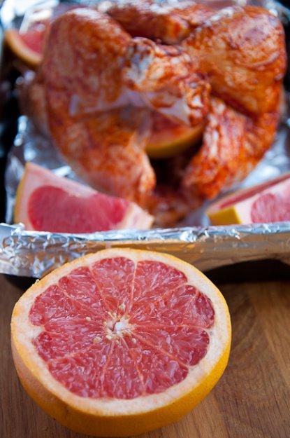 Рецепт Курица с паприкой и грейпфрутом