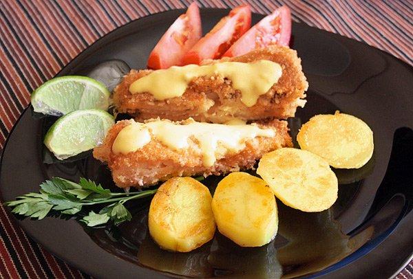 Рецепт Жареная рыба с миндальной корочкой