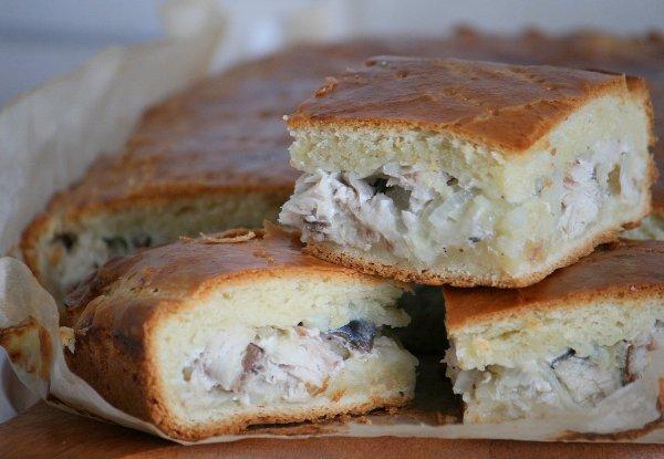 фото рецепта: Пирог со скумбрией
