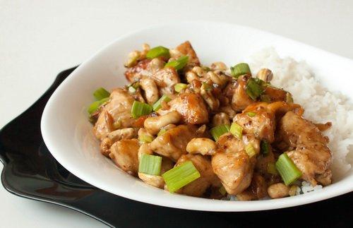 Рецепт Кисло-сладкая курица с кешью