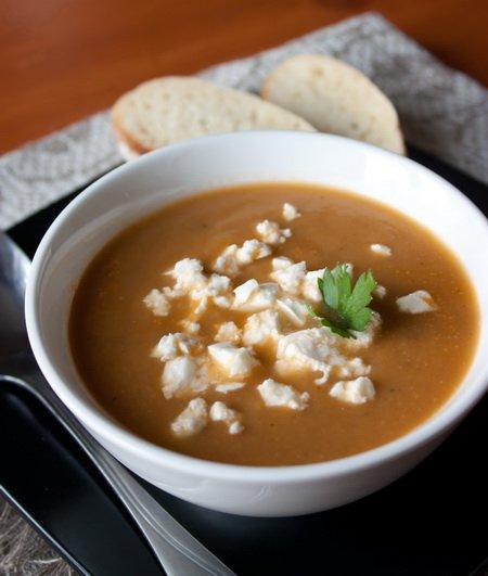 Рецепт Суп-пюре из печеных баклажанов