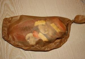 Форель, запеченная в пергаменте