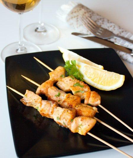 Рецепт Шашлычки из семги с карри