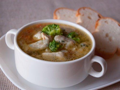 Рецепт Капустный суп с курицей и клецками