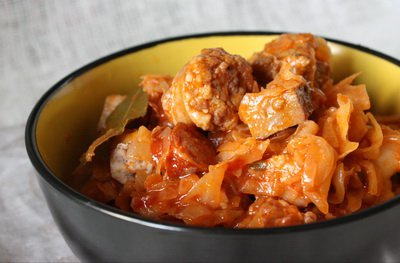 фото рецепта: Капустная солянка с мясом