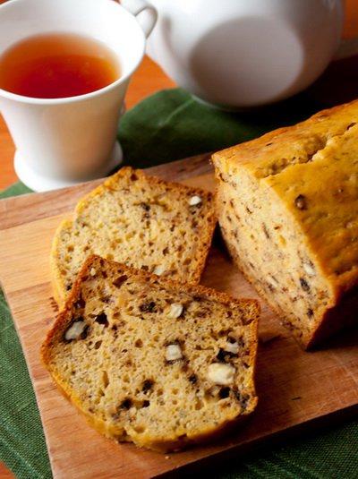 фото рецепта: Тыквенно-банановый кекс с орехами