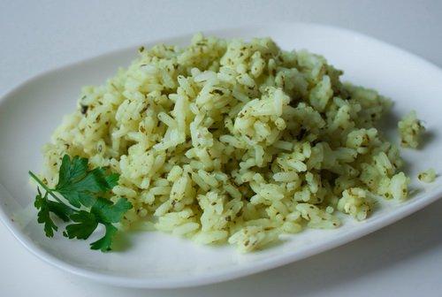 фото рецепта: Рис с петрушкой и лаймом