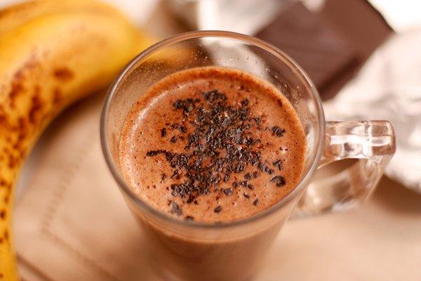 фото рецепта: Горячий банановый коктейль с шоколадом