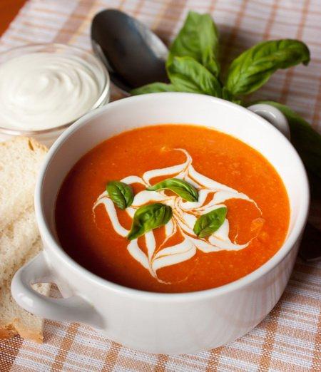 Рецепт Томатный суп-пюре с горохом