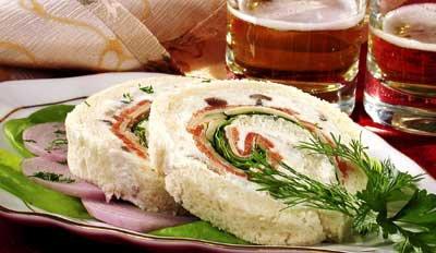 фото рецепта: Сандвичи с семгой и сыром