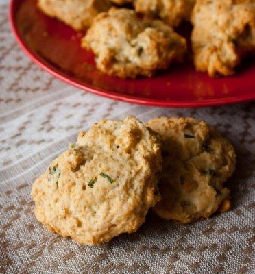 Рецепт Печенье с зеленым луком и голубым сыром