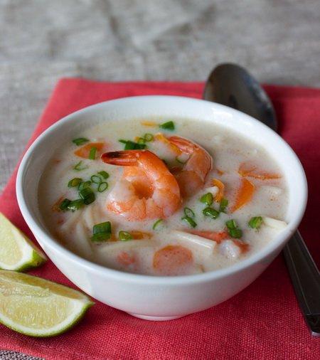 Рецепт Креветочный суп на кокосовом молоке