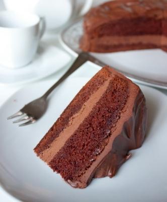 Воздушный шоколадный торт