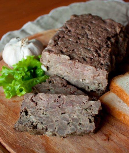 Рецепт Террин из свинины с куриной печенью