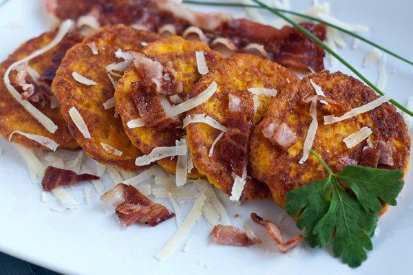 Рецепт Несладкие оладьи из тыквы с сыром