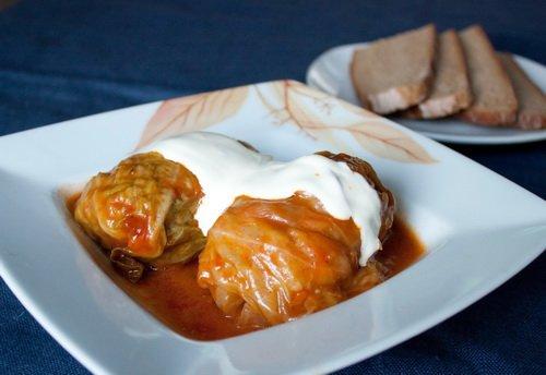 фото рецепта: Голубцы с мясом и рисом