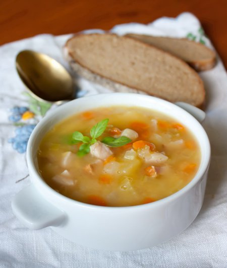 фото рецепта: Гороховый суп с ветчиной