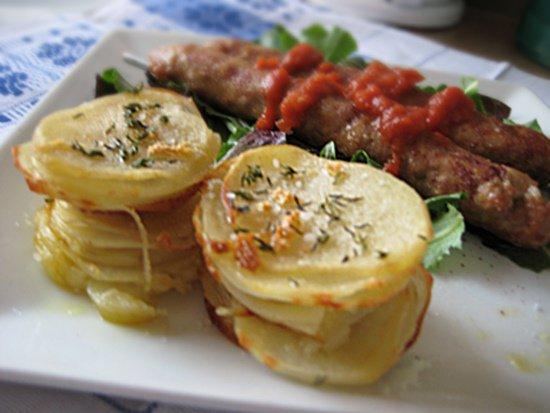 Рецепт Печеная картошка с чесночным маслом