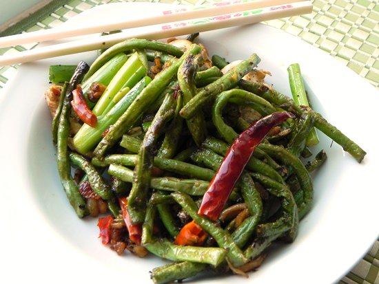 Рецепт Зеленые бобы с курицей в сычуанском стиле