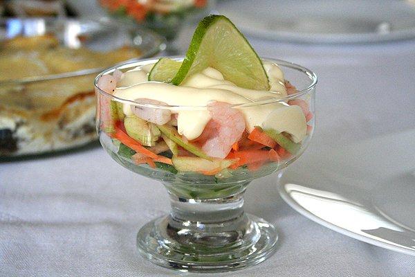Рецепт Салат-коктейль из креветок