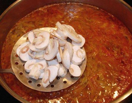 Сборная грибная солянка
