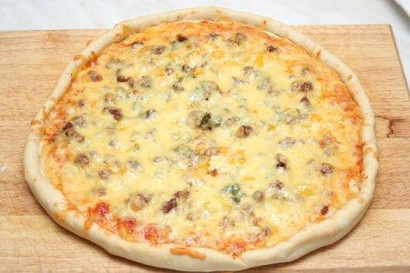 Пицца с фаршем «по-домашнему»