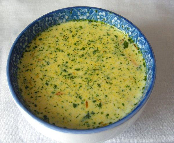 Рецепт Сырный суп с креветками