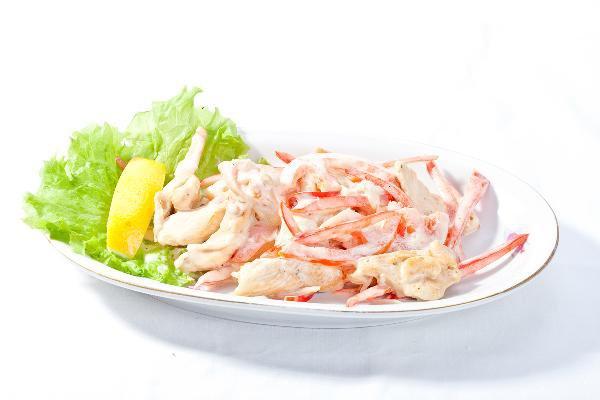 Рецепт Салат с курицей и мясом краба