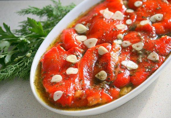 фото рецепта: Маринованные печёные перцы