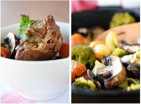 Рецепт Баранина, тушенная с овощами и грибами