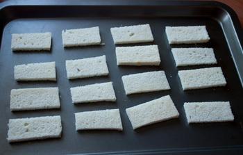 Тосты с грушами и голубым сыром