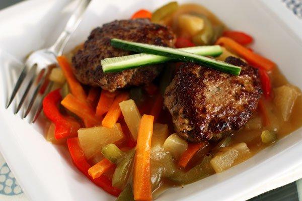 Рецепт Котлеты из индейки с кисло-сладким соусом