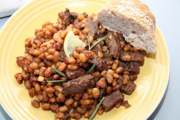 Рецепт Пряное мясо с фасолью